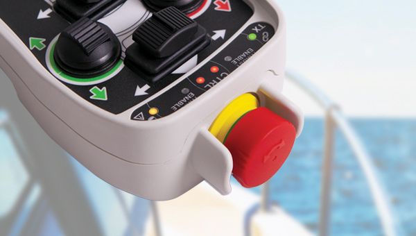 yacht remote control Wave Marine Stop button